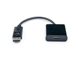 Переходник DisplayPort > HDMI (DisplayPort папа - HDMI мама), Atcom, кабель 10см (16852)