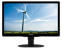 19.5″ Philips 200V4QSBR/ 00, Black, WLED, MVA, 1920x1080, 8 мс, 250 кд/ м2, 3000::1, 178°/ 178°, DVI/ VGA