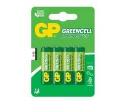 Батарейкa LR6 (AA) GP Greencell GP15G-2UE4 (1.5В солевая), блистер,  ЗА 1 ШТ.