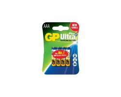 Батарейкa LR3 (AAA) GP Ultra+ Alkaline GP24AUP-2UE4 (1.5 В щелочная) за 1 шт.