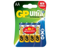 Батарейкa LR6 (AA) GP Ultra+ Alkaline GP15AUP-2UE4 (1.5 В щелочная) за 1шт.