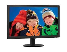 21.5″ Philips 223V5LHSB2/ 00 Black, WLED, TN, 1920x1080, 5 мс, 200 кд/ м2, 600::1, 90°/ 65°, VGA/ HDMI
