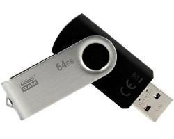 USB Flash Drive 64Gb Goodram Twister Black /  UTS2-0640K0R11
