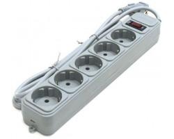 Фильтр сетевой 10 м Gembird SPG5-G-10MG 5 розеток, серый