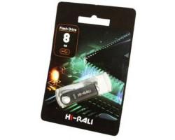 USB Flash Drive 8Gb Hi-Rali Shuttle series Silver /  HI-8GBSHSL