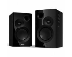 Колонки 2.0 Sven SPS-635 Black /  2x20Вт /  40-22000Hz /  МДФ /  mini-jack 3.5, RCA /  управление сбоку