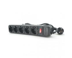 Сетевой фильтр 4.5м Merlion B545, 5 розеток, сечение 3х0,75мм, черный  Q30