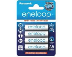 Аккумулятор AA, 1900 mAh, Panasonic Eneloop, 4 шт, 1.2V, Blister, ресурс - 2100 циклов заряда! (BK-3