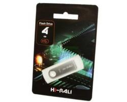 USB Flash Drive 4Gb Hi-Rali Shuttle series Silver /  HI-4GBSHSL