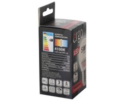 Лампа ERGO Standard G45 E27 5W 220V Нейт.Бел. 4100K Мат. н/ Дим.