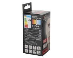 Лампа ERGO Standard A60 E27 8W 220V Тепл.Бел. 3000K Мат. н/ Дим.