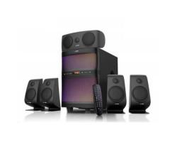 Колонки 5.1 F&D F5060X Black /  Sub:: 60Вт, Sat:: 5х15Вт /  60-20000Hz /  Sub:: МДФ /  RCA /  ДУ, Bluetooth, AUX /  USB