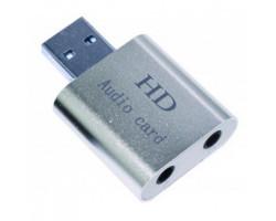 Звуковая карта USB 2.0, 7.1, Dynamode C-Media 108 Silver, 90 дБ, (USB-SOUND7-ALU)