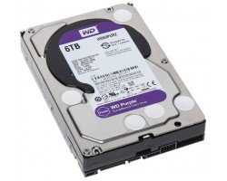 Жесткий диск 3.5″ 6Tb Western Digital Purple, SATA3, 64Mb, 5400 rpm (WD60PURZ) Б/ Н
