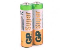 Батарейкa LR3 (AAA) GP Super Alkaline GP24A-2S2 (1.5 В щелочная), ЗА 1ШТ.