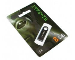USB Flash Drive 8Gb Hi-Rali Shuttle series Black /  HI-8GBSHBK