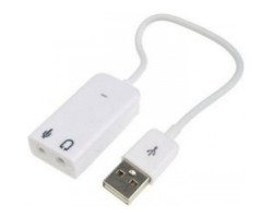 Звуковая карта USB 2.0, 7.1, Dynamode C-Media 108 White, 90 дБ, Box (USB-SOUND7-WHITE)