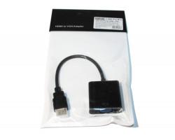 Переходник HDMI (папа) > VGA(мама) 20cm, STLab U-990 Pro BTC Black