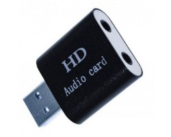 Звуковая карта USB 2.0, 7.1, Dynamode C-Media 108 Black, 90 дБ, EAX2.0 /  A3D1.0, алюминиевый корпус, Blister (USB-SOUND7-ALU)