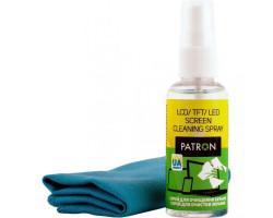 Набор чистящий Patron, для TFT/ LCD:: спрей 50 мл, микроволокно 20 х 20 см (F3-015)