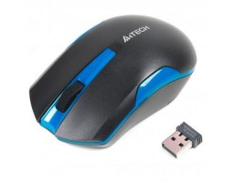 Мышь A4Tech G3-200N 1000dpi Black+Blue, USB V-TRACK, Wireless