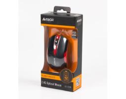 Мышь A4Tech G3-200N 1000dpi Black+Red, USB V-TRACK, Wireless