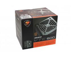 Блок питания 600W, Cougar VTE600, Black, 120 мм, PFC, 80 Plus Bronze, MB:: 20+4 pin, CPU:: 4+4 pin, VGA:: 2 x 6+2 pin, 2xMolex, 6xSATA, Защиты:: OVP/ OPP/ SCP/ UVP/ OCP