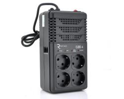 Стабилизатор Ritar Cube-4 800VA 480W 2SHUKO, Q18 (277*100*123)