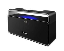 Колонка портативная 2.0 Sven PS-185 Black, 10 Вт, пластиковый корпус, FM, USB, microSD, LED-дисплей, годинник, 2000мА*ч аккумулятор, управление сверху