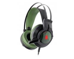 Гарнитура A4Tech J437 Bloody (Army Green), игровые с микрофоном, неоновая подсветка 7 цветов