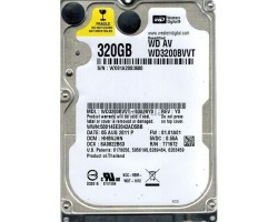Жесткий диск 2.5″ 320Gb Western Digital AV, SATA2, 8Mb, 5400 rpm (WD3200BVVT) (Ref)