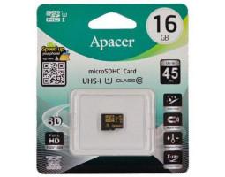 Карта памяти microSDHC, 16Gb, Class10, Apacer без адаптера, AP16GMCSH10U1-RA