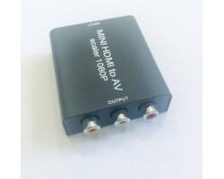 Конвертер HDMI > AV, ВЫХОД 3RCA(мама) на ВХОД HDMI(мама), Mini, 720P/ 1080P, Atcom, BOX (15275)