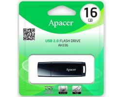 USB Flash Drive 16Gb Apacer AH336 Black, AP16GAH336B-1