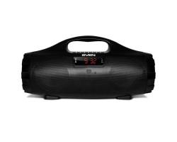 Колонка портативная 2.0 Sven PS-460 Black, 2 x 9 Вт, пластиковый корпус, Bluetooth, MicroSD/ USB ридер, питание от аккумулятора, управление сверху