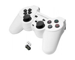Геймпад Esperanza Gladiator GX600, White, беспроводной (2.4GHz), USB, вибрация, для PC/ PS3, 2 аналоговых стика, 12 кнопок (EG108W)