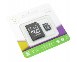 Карта памяти microSDHC, 32Gb, Class10 UHS-I, T&G, SD адаптер, TG-32GBSD10U1-01