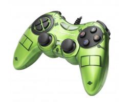 Геймпад Esperanza Fighter GX400, Green, USB, вибрация, для PC, 2 аналоговых стика, 12 кнопок (EG105G)
