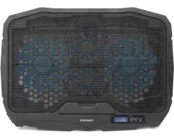 Подставка для ноутбука до 17″ Crown CMLS-01 Blue, 4 кулера, дисплей LCD, подсветка