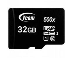 Карта памяти microSDHC, 32Gb, Class10, Team, без адаптера (TUSDH32GCL10U02)