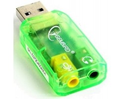 Звуковая карта USB Gembird SC-USB-01 green USB2.0-Audio
