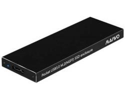 Карман 1.8″ Maiwo K16N для M.2 (NGFF) SSD через USB3.0 на винтах алюм. черный