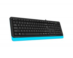 Клавиатура A4tech Fstyler FK10, Sleek MMedia Comfort, USB, Black+Blue, (US+Ukrainian+Russian)