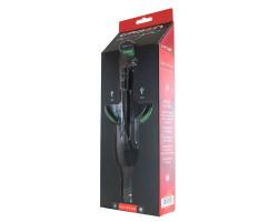 Автомобильное зарядное устройство - держатель Crown CMDC-IP5-032, Black/ Green, 2xUSB, 2.1A