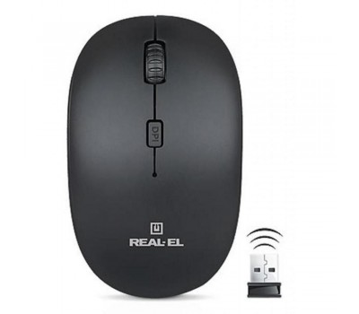 Мышь REAL-EL RM-301 Wireless  black