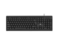 Клавиатура 2E KS108, Black, USB, влагозащита, 1,5 м (2E-KS108UB)