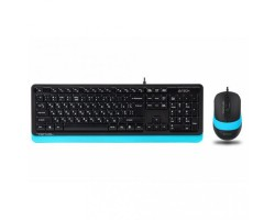 Комплект A4Tech Fstyler Sleek Multimedia Comfort F1010, Black/ Blue, клавиатура+мышь, USB
