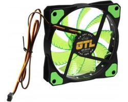 Вентилятор 120 mm GTL LED Green, 120x120x25мм, 2500 об/ мин, 3 pin (GTL-120LGr)