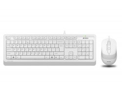 Комплект A4Tech Fstyler Sleek Multimedia Comfort F1010, White, клавиатура+мышь, USB